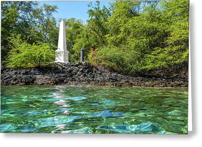 Greeting Card featuring the photograph Captain Cook Monument by Denise Bird