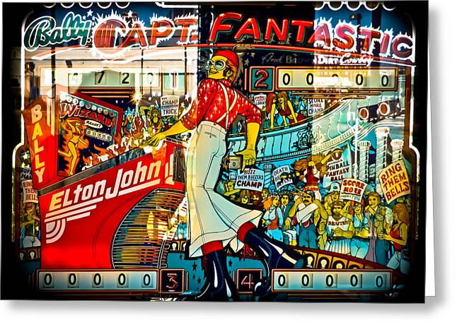 Captain Fantastic - Pinball Greeting Card by Colleen Kammerer