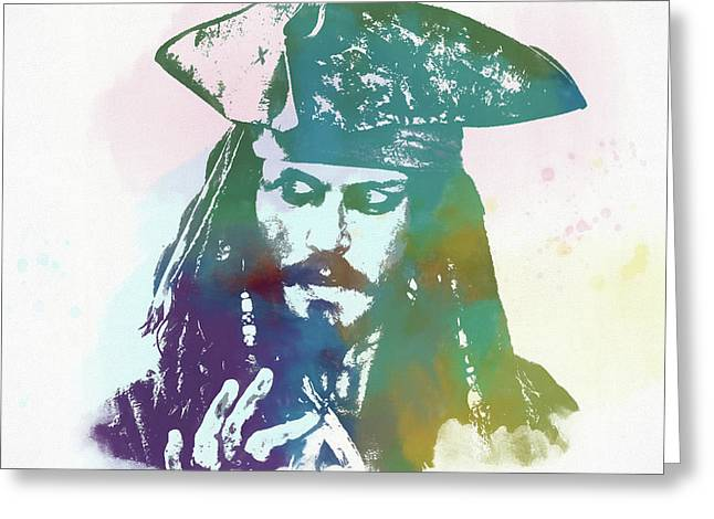 Captain Jack Sparrow Greeting Card