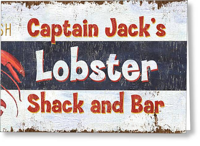 Captain Jack's Lobster Shack Greeting Card by Debbie DeWitt