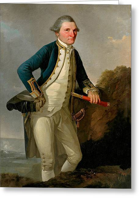 Captain James Cook Portrait  Greeting Card by War Is Hell Store
