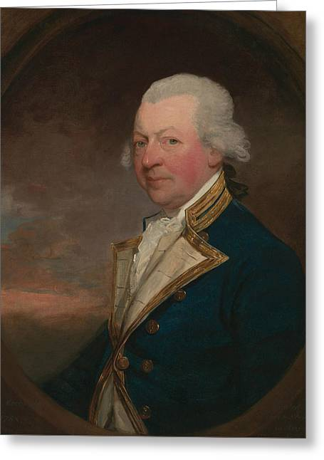 Captain John Macbride Greeting Card by Gilbert Stuart
