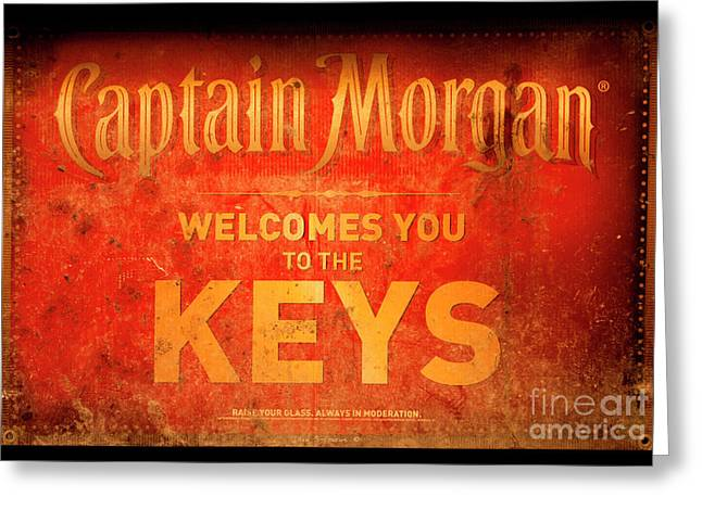 Captain Morgan Welcome To The Keys Greeting Card by John Stephens