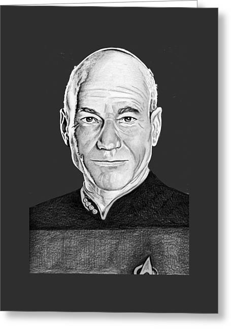 Captain Picard Greeting Card by Bill Richards