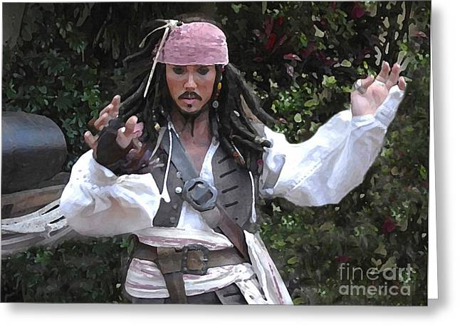 Captain Sparrow Greeting Card by David Lee Thompson