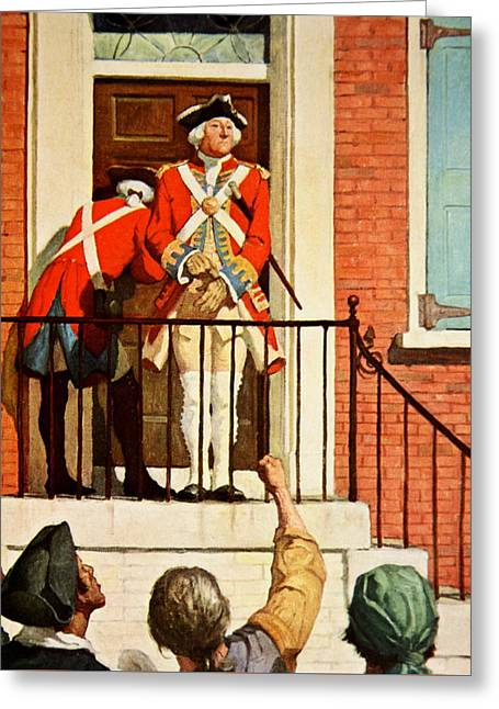 Captain Tennant With The Crowd In Front  Greeting Card by Newell Convers Wyeth