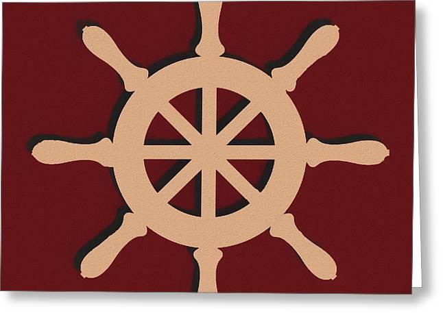 Captain's Wheel Greeting Card