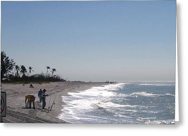 Captiva Surf Fishing Greeting Card by Jack G  Brauer