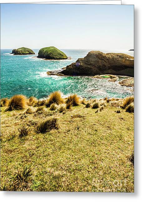 Captivating Coastal Cliff Greeting Card