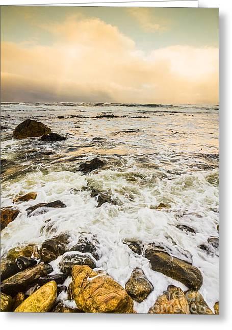 Captivating Coastal Sunrise Greeting Card by Jorgo Photography - Wall Art Gallery