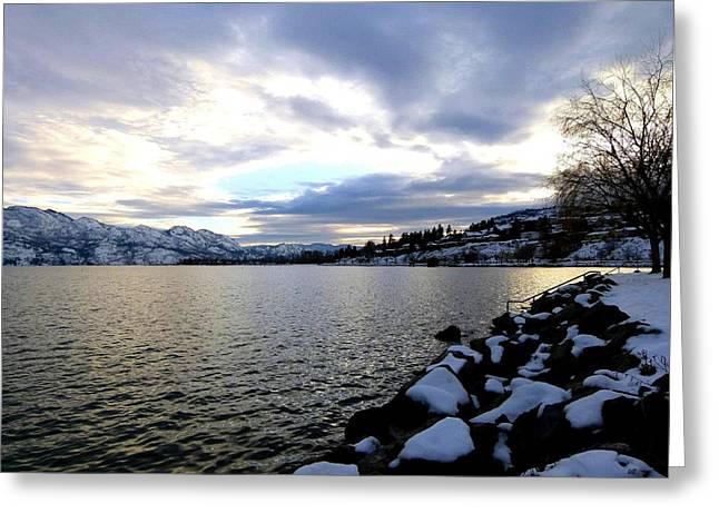 Captivating Okanagan Lake Greeting Card by Will Borden