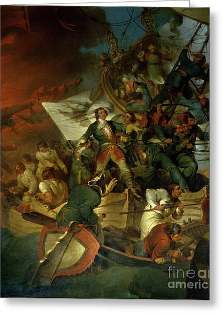 Pirates Paintings Greeting Cards - Capture of Azov Greeting Card by Sir Robert Kerr Porter