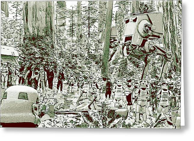 Capture On Endor Greeting Card by Kurt Ramschissel