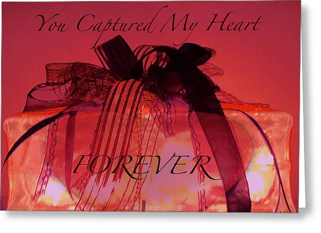 Captured My Heart Card Greeting Card by Debra     Vatalaro