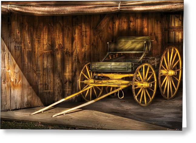 Car - Wagon - The Old Wagon Greeting Card by Mike Savad