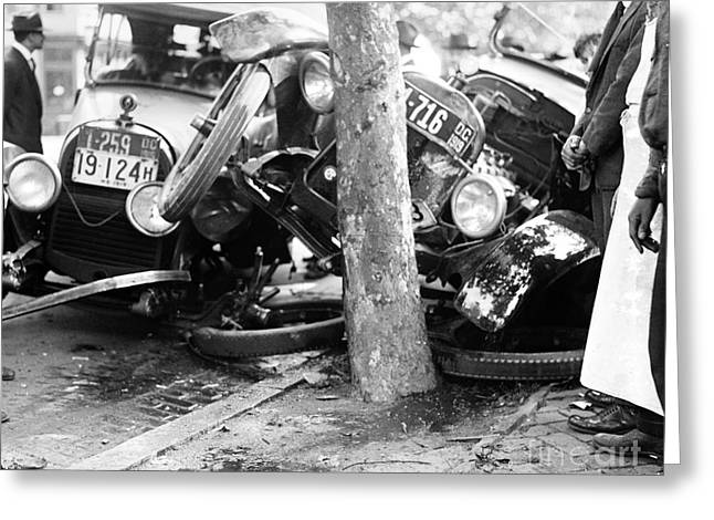 Car Accident, C1919 Greeting Card by Granger