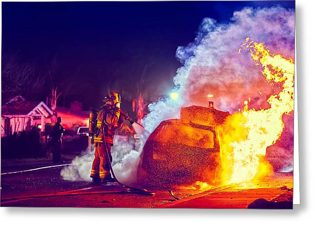 Car Arson  Greeting Card