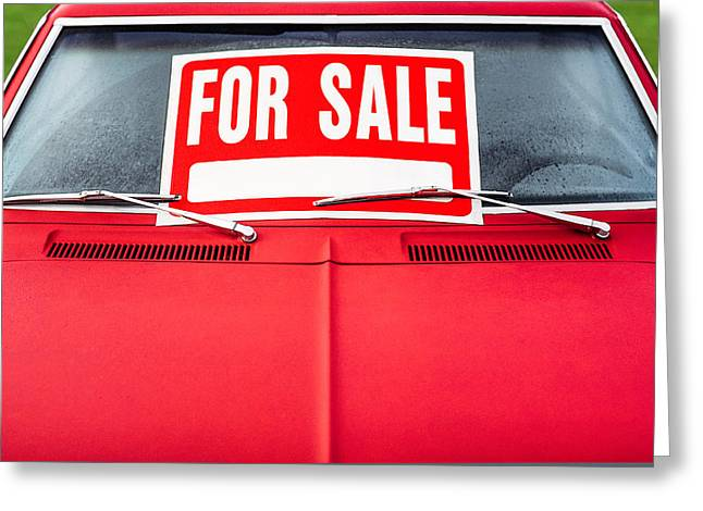 Car For Sale Greeting Card by Todd Klassy