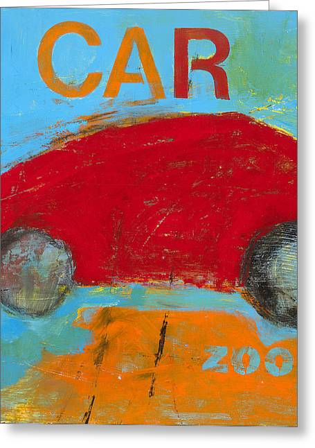 car Greeting Card by Laurie Breen