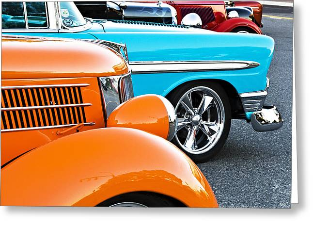 Car Show Beauties Greeting Card by Marion McCristall