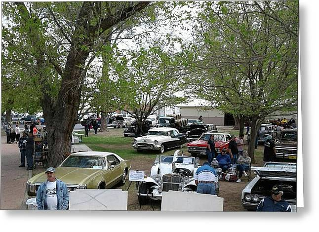Greeting Card featuring the photograph Car Show In Deming N M by Jack Pumphrey