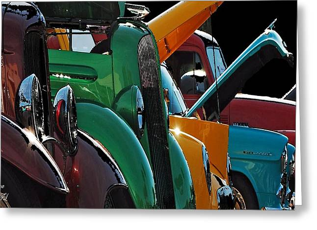 Car Show V Greeting Card by Robert Meanor