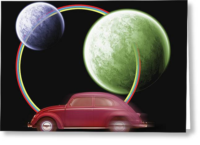 Car Space  Greeting Card by Mark Ashkenazi