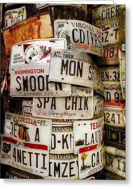 Car Tags Greeting Card by JAMART Photography