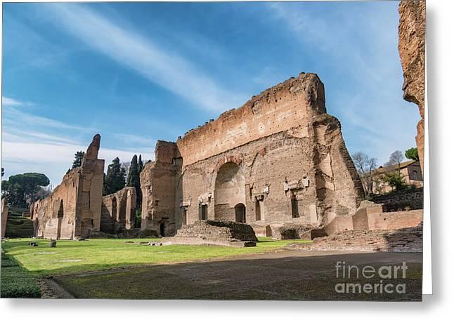 Caracalla, Baths, Roman, Rome, Italy, Ancient, Terme, Landmark,  Greeting Card