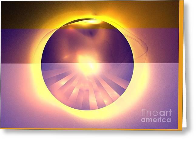 Caramel Sun Greeting Card by Kim Sy Ok