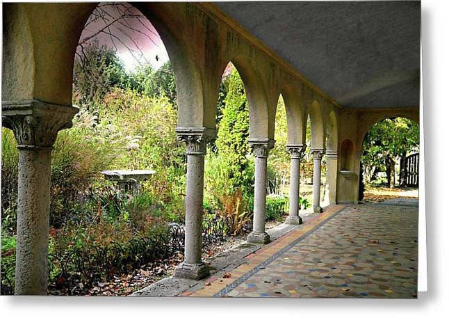 Caramoor Portico Greeting Card by Diana Angstadt