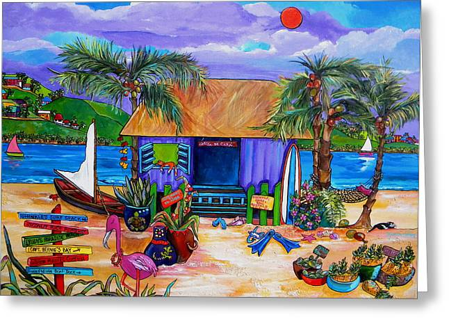 Recently Sold -  - Snorkel Greeting Cards - Caras Island Time Greeting Card by Patti Schermerhorn