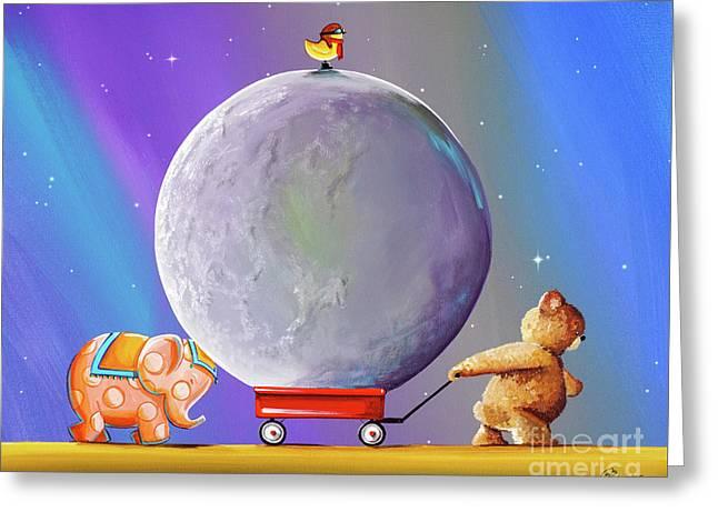 Caravan Greeting Card by Cindy Thornton