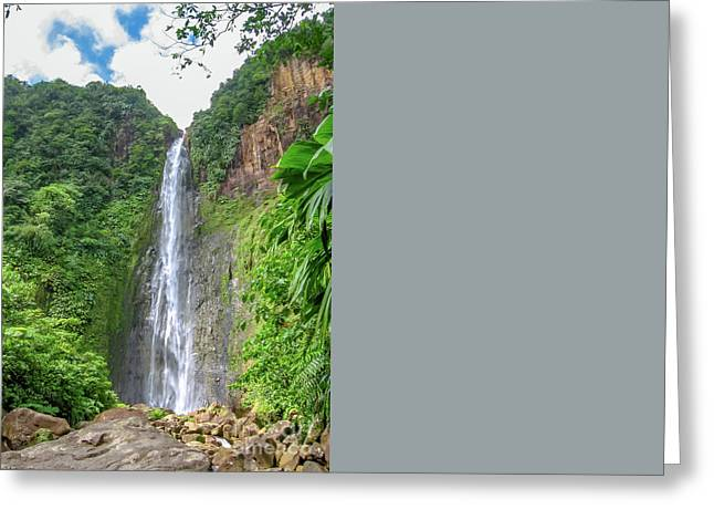 Carbet Falls Guadeloupe Greeting Card
