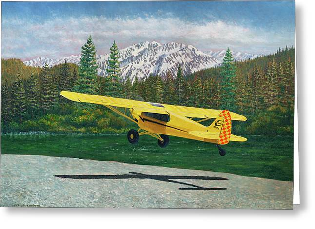 Carbon Cub Riverbank Takeoff Greeting Card