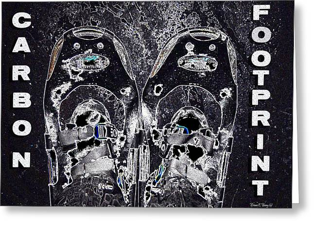 Carbon Footprint Greeting Card by Diane E Berry