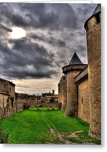 Carcassonne Castle Greeting Card by Gareth Davies