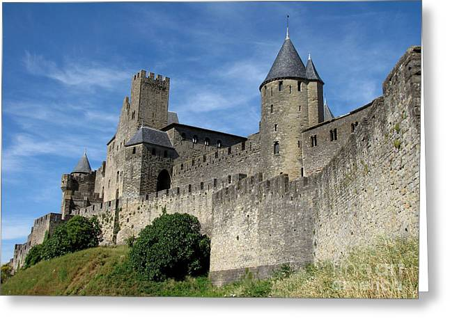 Greeting Card featuring the photograph Carcassonne France by Jacqi Elmslie