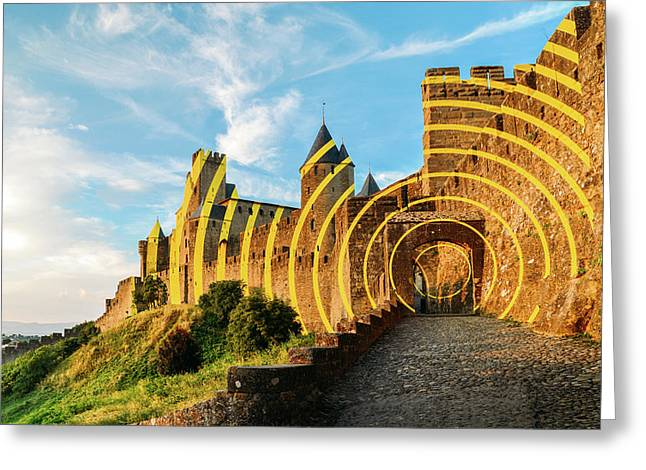 Carcassonne's Citadel, France Greeting Card