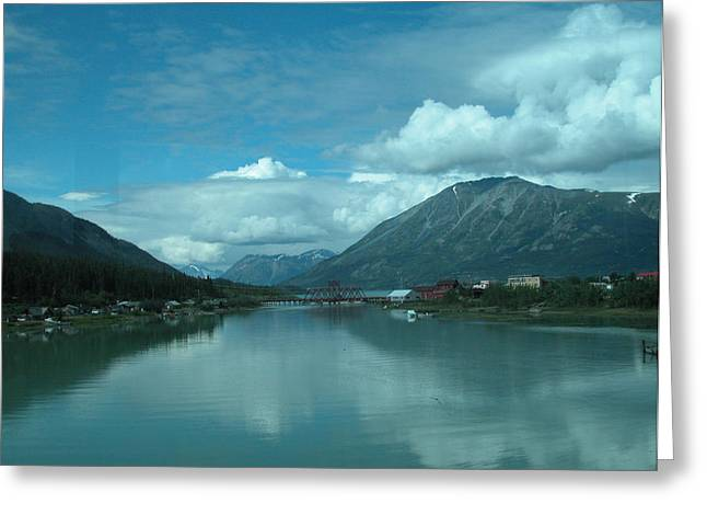 Carcross - So Much Blue Greeting Card by William Thomas