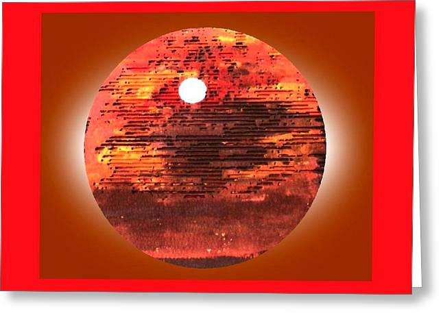 Cardboard Sunset Greeting Card by Gabe Art Inc