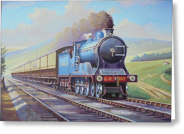 Cardean On Anglo-scottish Express. Greeting Card