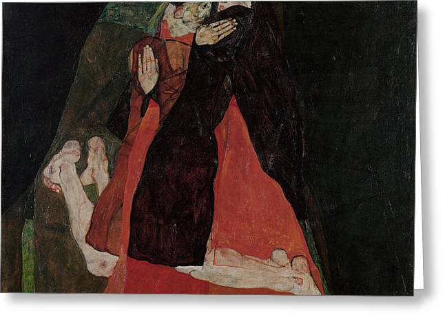 Cardinal And Nun Caress 1912 Greeting Card by Egon Schiele