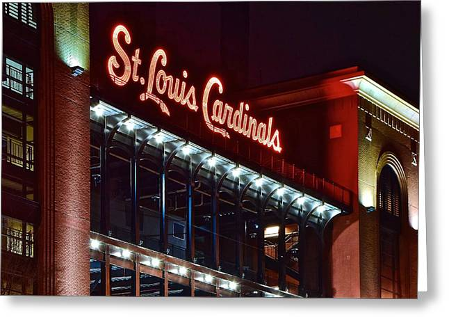 Cardinal Baseball Greeting Card by Frozen in Time Fine Art Photography