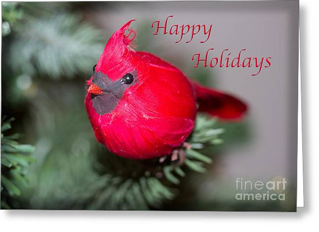 Cardinal Happy Holidays Greeting Card