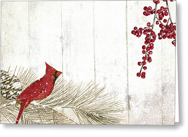 Cardinal Holiday IIi Greeting Card by Mindy Sommers