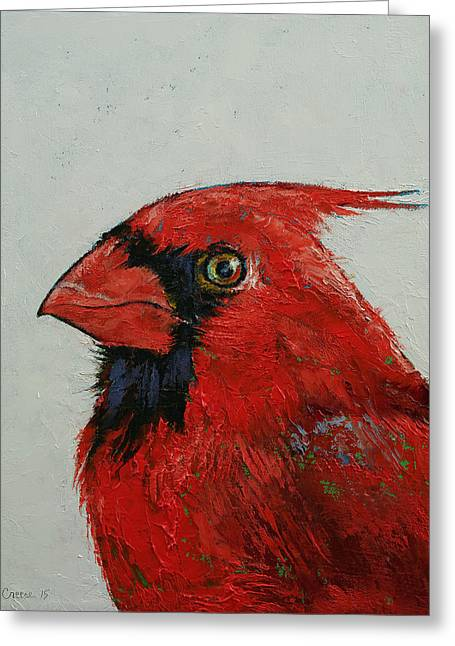 Cardinal Greeting Card by Michael Creese