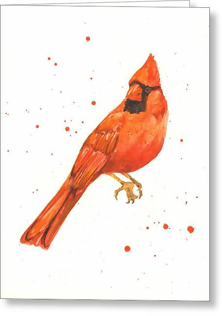 Cardinal Painting Greeting Card by Alison Fennell