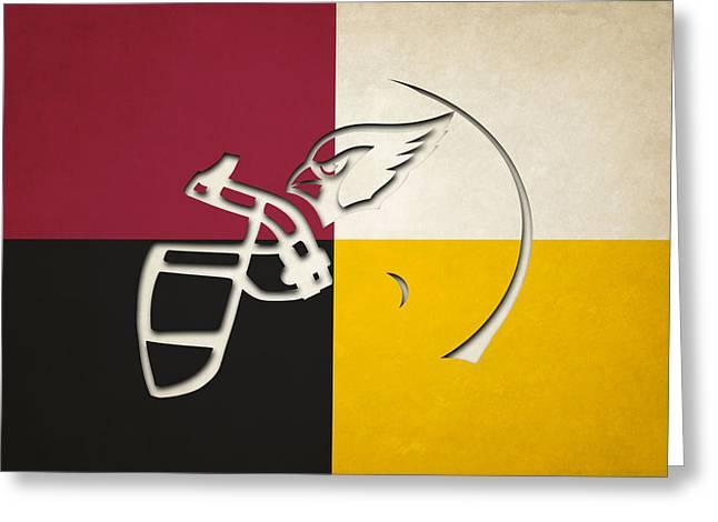 Cardinals Helmet Art Greeting Card by Joe Hamilton