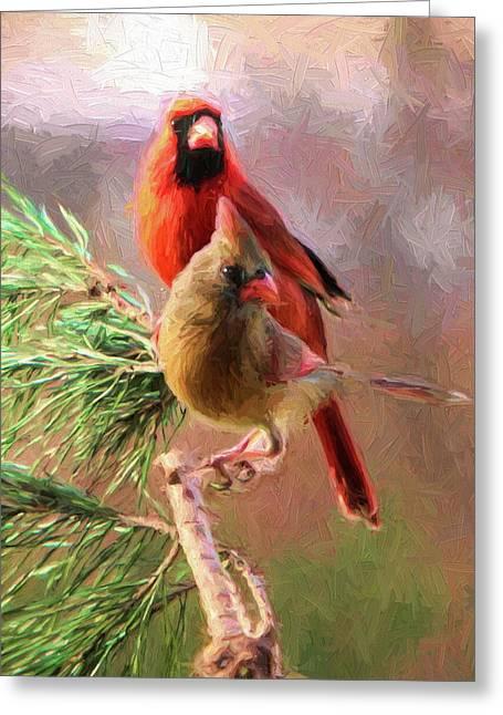 Cardinals2 Greeting Card